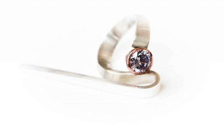 Copper fantasy ring   Art Styles jewelry   zilver en koper   Studio Art Styles