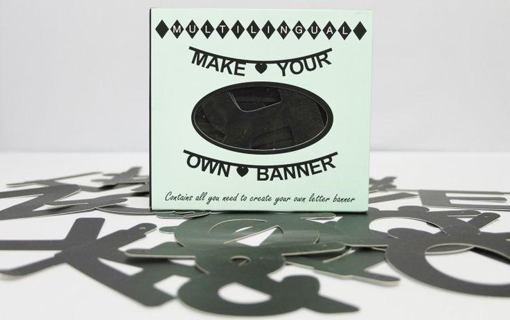 DIY Word Banner - Black - XL | Doe het lekker zelf! | Buiten de Lijntjes