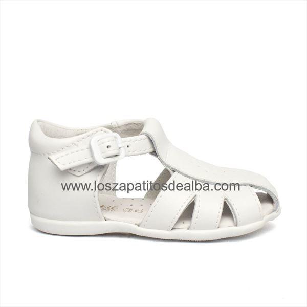 5f970ef410e Sandalias Niño Blancas Cangrerjeras Modelo Richard | zapatos bebés ...