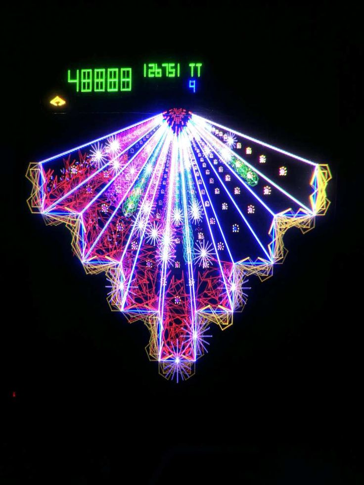 Atari Tempest Time Lapse Photography Classic Arcade
