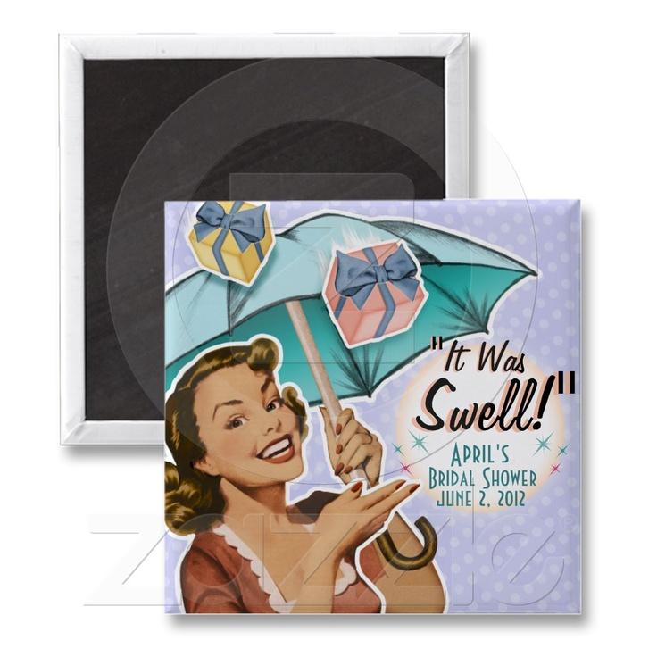 Vintage Style Bridal Shower Magnet A