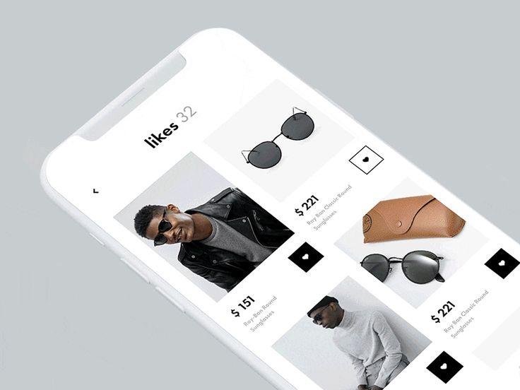 Shazam style shopping UI / Cuberto