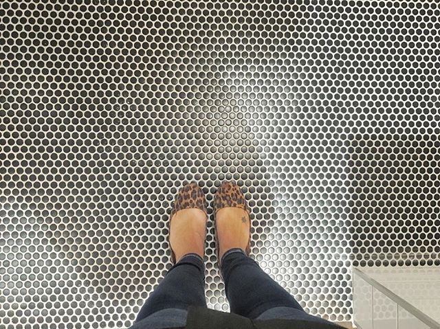 We'll forever love penny tiles on the floor!! We put these