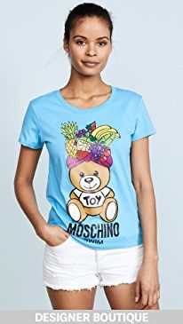 New Moschino Fruit Bear Graphic Tee online. Perfect on the Sleepy Jones Clothing from top store. Sku xrbe86842fytg59162