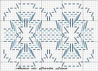 Dina Inspirações: Vagonite - Huck Weaving - Swedish weaving - Yoguslav point - Punto yugoslavo - Ponto jugoslavo - Punto filza