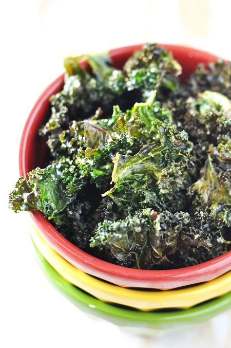 Baked Kale Chips with Garlic, Onion & Parsley #CMfoodies