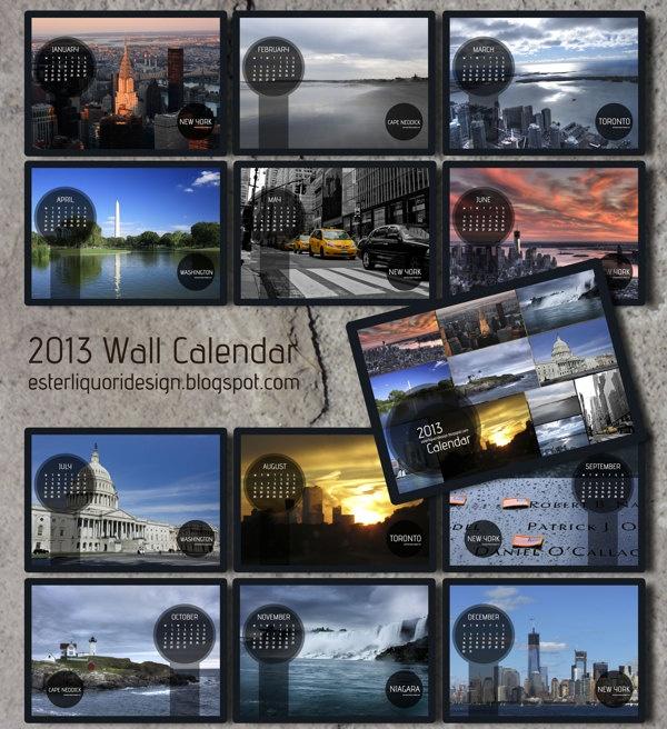 Ready to Print 2013 Wallpaper Calendar by Ester Liquori, via Behance