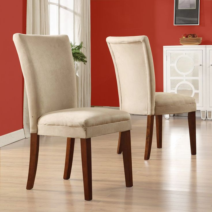 TRIBECCA HOME Parson Classic Peat Microfiber Side Chairs Set Of For Dining Room Table Four