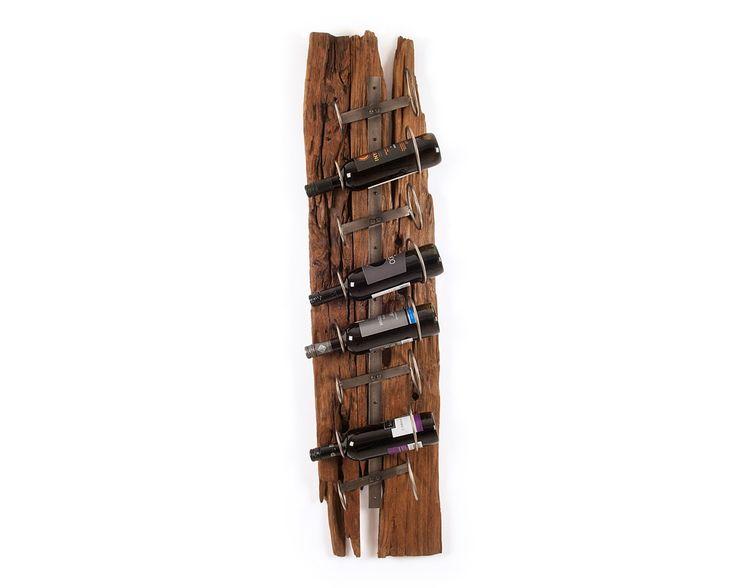 Reclaimed Teak Wine Rack - Wooden Accessories - Puji Homewares
