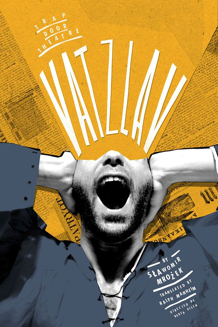 Elaina - This is an efffective poster designed by Slawomir Mrozek for Trap Door Theatre. All the visual elements such as typography, colours, and its layout were planned out very well to engage the audiences as well as to convey its meaning. The types were use as a visual element to emphasise the expression of the character. It is a fierce and loud expression yet being toned down by it's colours.