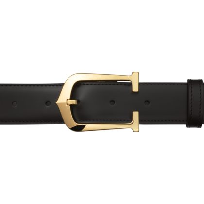 Cartier Elongated 'C' Belt / Gold Buckle - having a gold phase this year and this belt ticks all the right boxes!