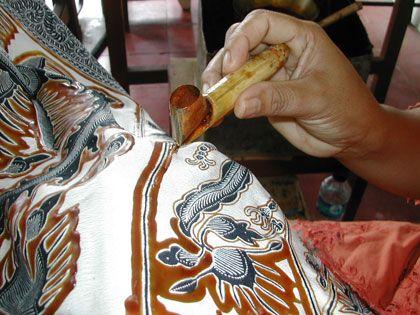 Bali, Indonesia - Batik hot wax dye