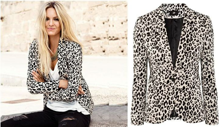 Our Leopard Print Blazer Available online now. Sizes from XS - XXL