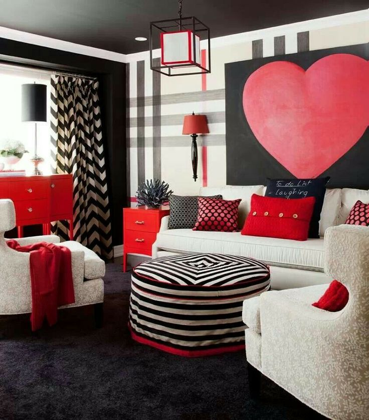 Red Black White Living Room Ideas And Pinterest Rooms