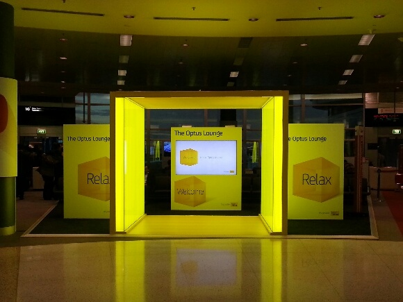 The Optus Lounge - Sydney Domestic Airport - Terminal 3.