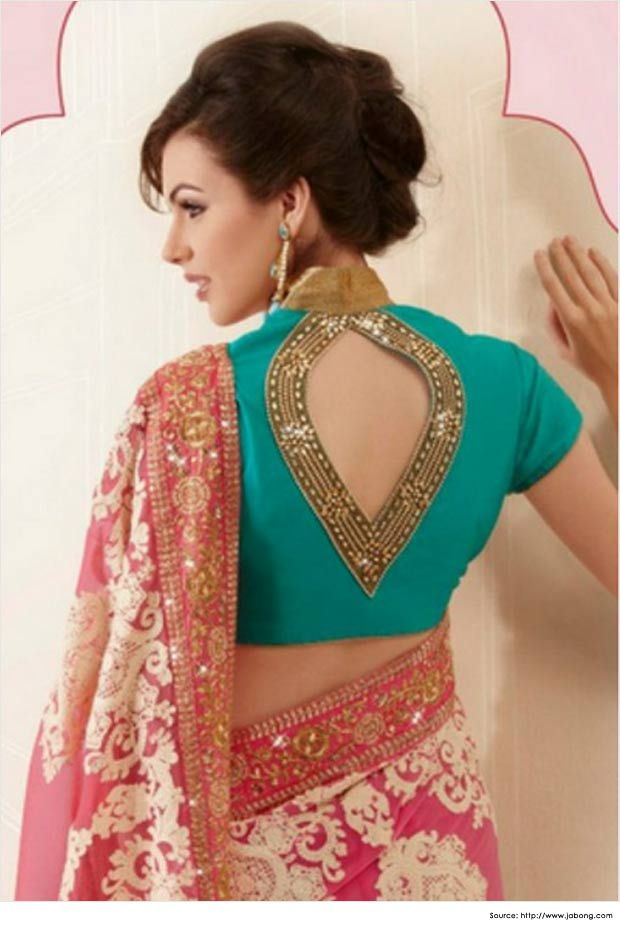 Saree or sari blouse design. Indian fashion.