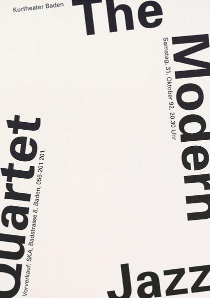 Niklaus Troxler  The Modern Jazz Quartet poster