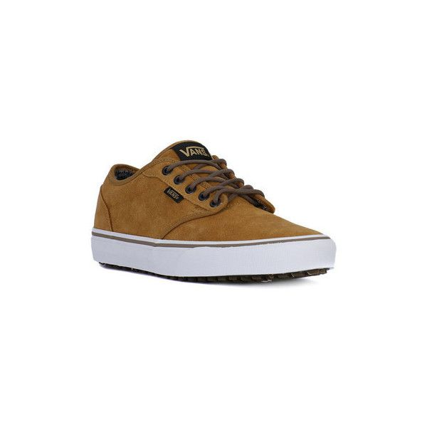 Vans ATWOOD MTE MEDAL Shoes (Trainers) (1,855 MXN) ❤ liked on Polyvore featuring shoes, sneakers, brown, trainers, women, vans trainers, brown sneakers, vans shoes, vans sneakers and vans footwear