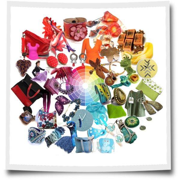 """Handmade Color Wheel"" by erika-hodi-horvathne on Polyvore"