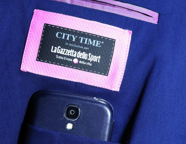 """City Time e La Gazzetta dello Sport, il connubio vincente dello """"Sport Chic"""" Giacca """"CITY TIME-Gazzetta"""" Spring Summer 2014, #illookintelligente #citytime #gazzettadellosport ,  http://www.city-time.it/"""