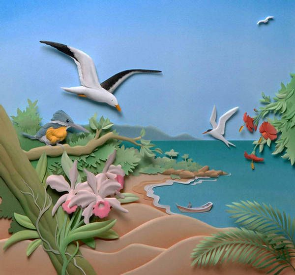 New Layered Paper Art Beautiful Gallery