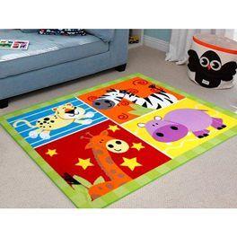 """Non-slip Kids Mat """"Zoo Animal """" FREE SHIPPING!"""