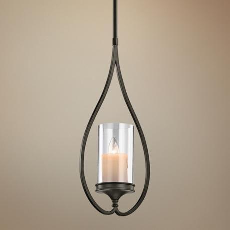 Kichler lara shadow bronze 8 3 4 wide mini pendant light for Kichler kitchen pendant lighting