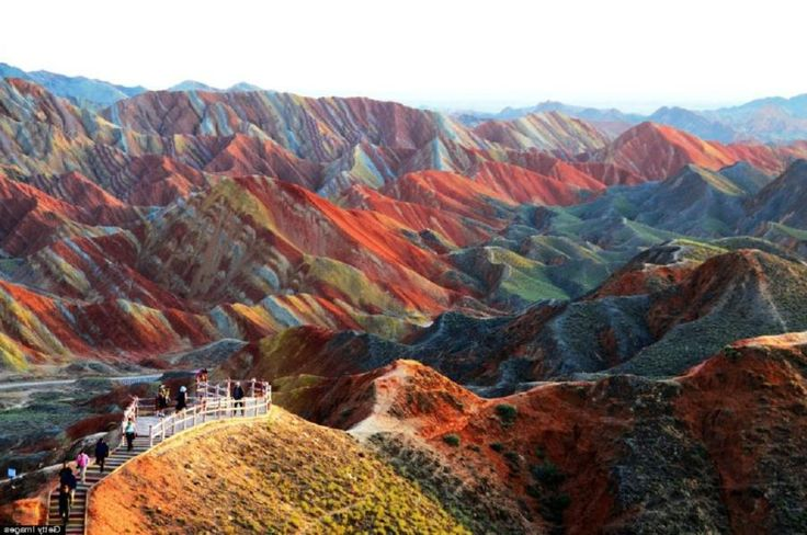 Montanhas de Arco-íris em Zhangye Danxia