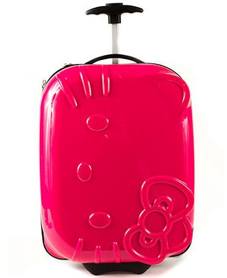 HK |❣| HELLO KITTY Pink Suitcase Neon ABS Molded Luggage
