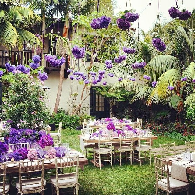Purple Party By Jeff Leatham. Find This Pin And More On Garden Wedding Ideas  ...