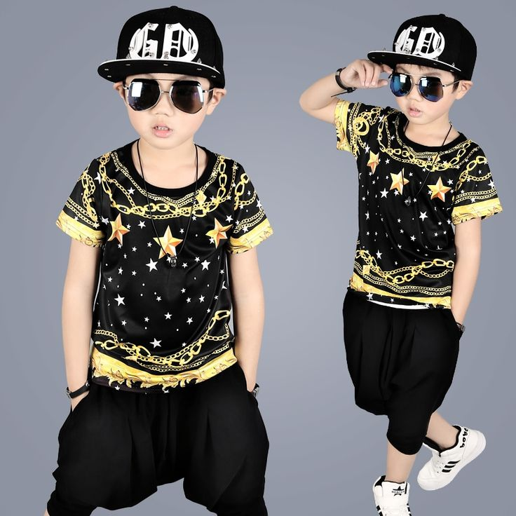 21.69$  Watch now - http://ali3hl.shopchina.info/go.php?t=32796948664 - 2017 Summer Children 's Dance Costume Street Hip Hop Jazz Costumes Performance Suit Child Costumes Clothing For Boys 21.69$ #buyonline