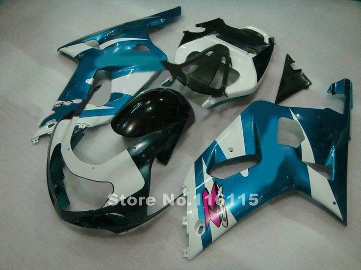 Fairings set for SUZUKI GSXR600 GSXR750 K1 2001 2002 2003 GSXR 600 750 01 02 03 green white black motorcycle fairing kit KG78