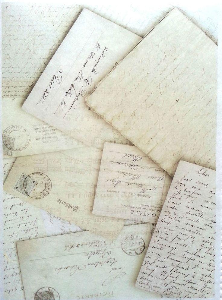 Rice Decoupage Paper / Decoupage Sheets  / Scrapbooking / Vintage Letters