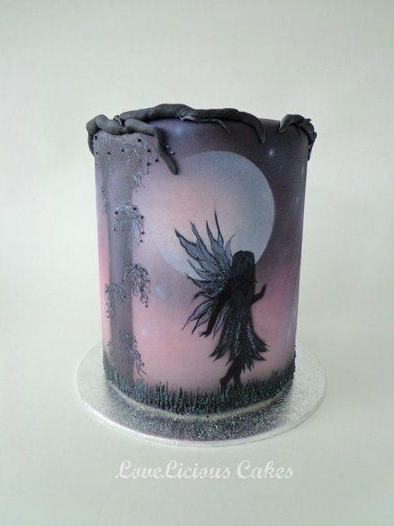CAKE ART! ~ Fairytale Hand painted Cake  ~ all edible  cake.