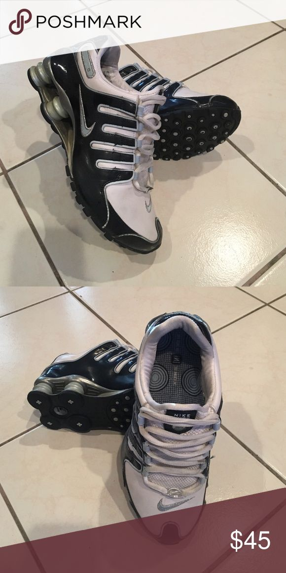 Nike Shox NZ Worn but good condition. Navy/white/pale blue Nike Shoes Sneakers