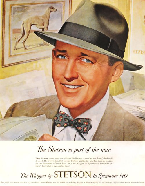 Bing Crosby for Stetson hats