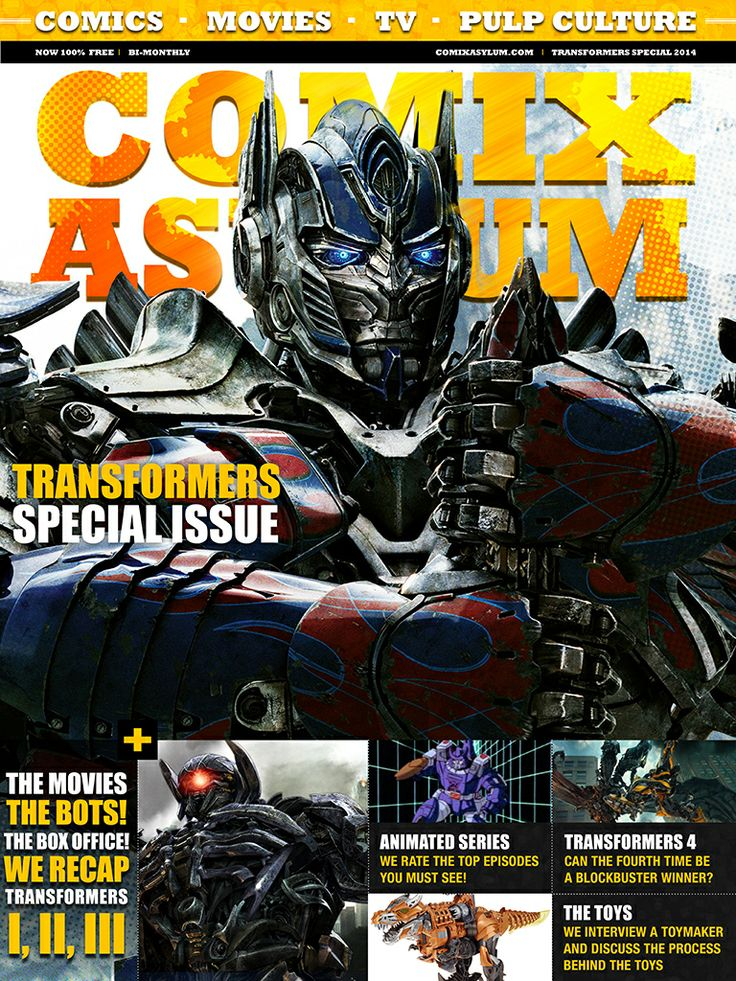 The cover to our special all Transformers issue commemorating 30 years of Hasbro's toy franchise.