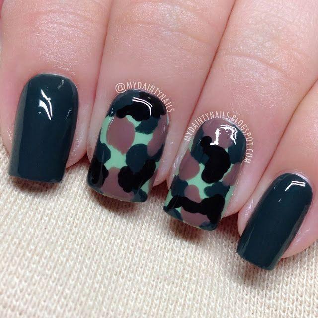 Dainty Nails: Army  #nail #nails #nailart
