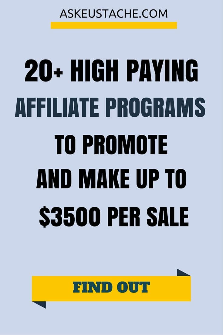 20+ Legit And High Paying Affiliate Programs To Earn Money