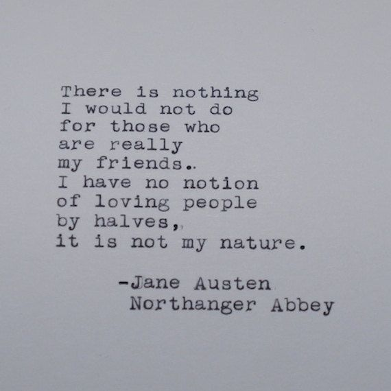 Jane Austen Quote from Northanger Abbey Typed on Typewriter by #LettersWithImpact