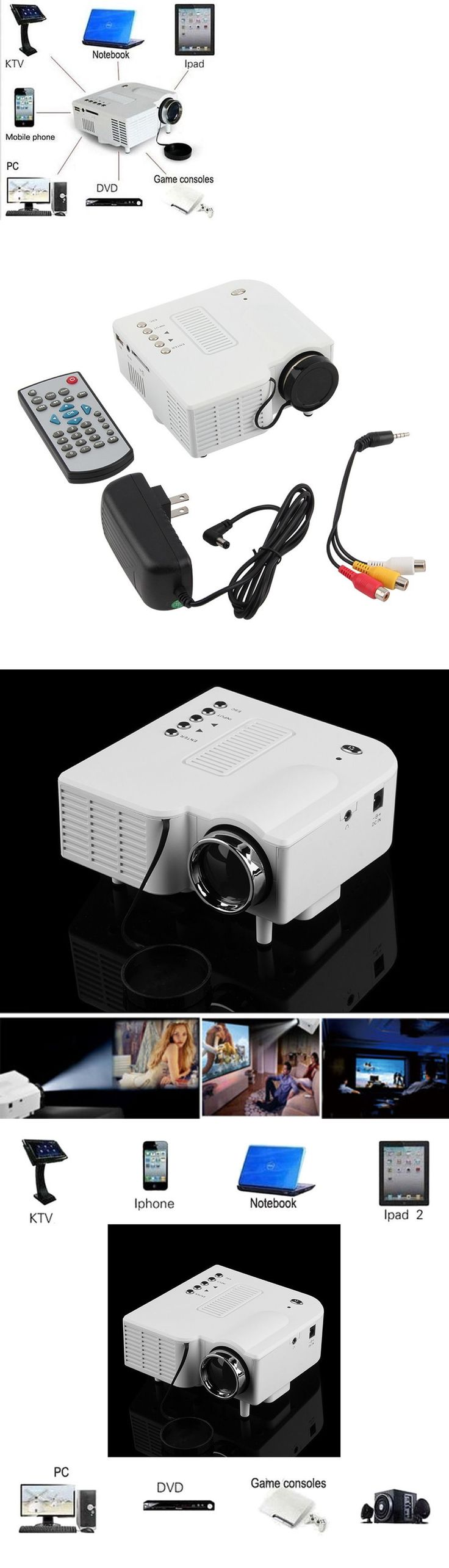 Home Theater Projectors: Hd 1080P Led Projector Home Cinema Theater Multimedia Pc Usb Sd Tv Av Hdmi Usa -> BUY IT NOW ONLY: $34.85 on eBay!