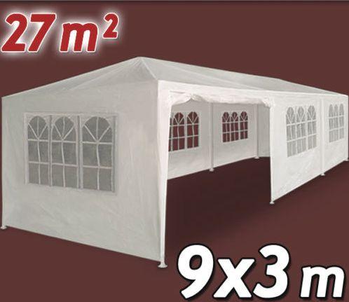 tente de r ception 3x9 m chapiteau barnum blanche possibilit de la fermer enti rement facile