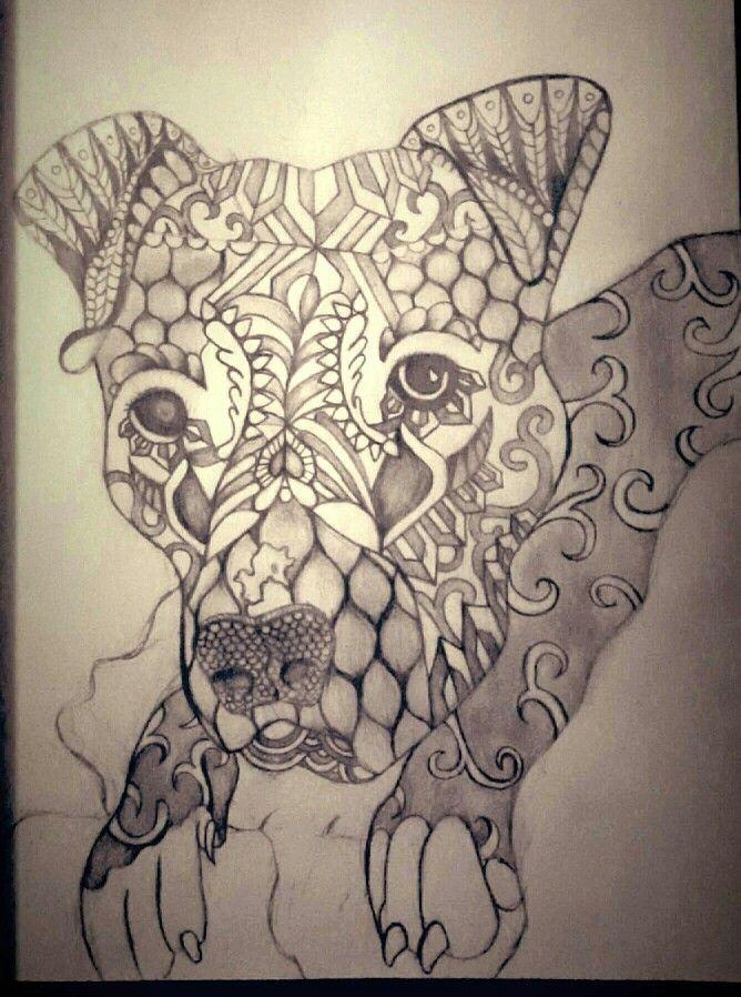 Pitbull Mandala Art Dog Coloring Page Mandala Art