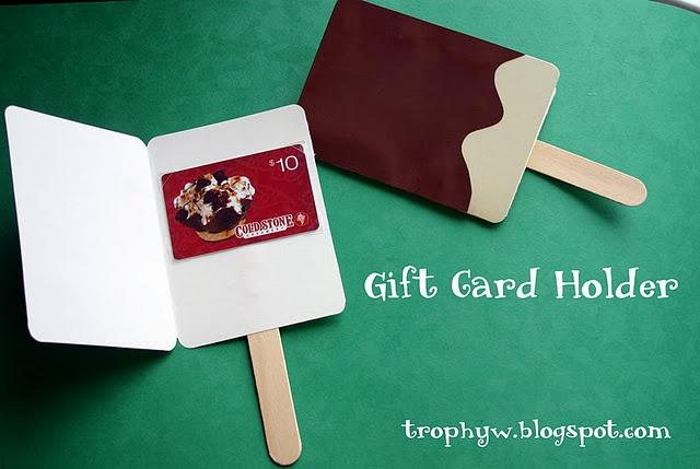Ice cream gift card holder
