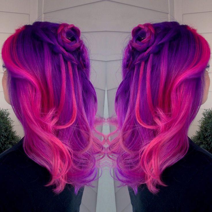 black hair hot pink tips wwwpixsharkcom images