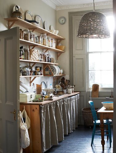 http://kristinperers.com. i can't get enough of open shelving and curtains instead of cabinet doors.