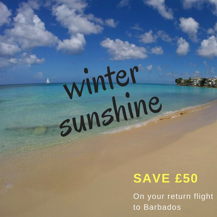 Save £50 on your return flight to Barbados this winter with Thomas Cook Airlines