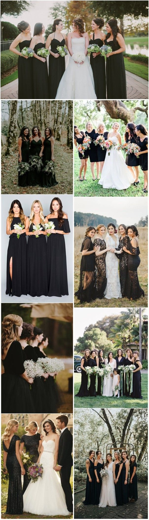 Bridesmaid Dresses » Don't Miss These 22    Black Bridesmaid Dresses for Your Fall and Winter Wedding! »   ❤️ See more:  http://www.weddinginclude.com/2017/06/dont-miss-these-black-bridesmaid-dresses-for-your-wedding/