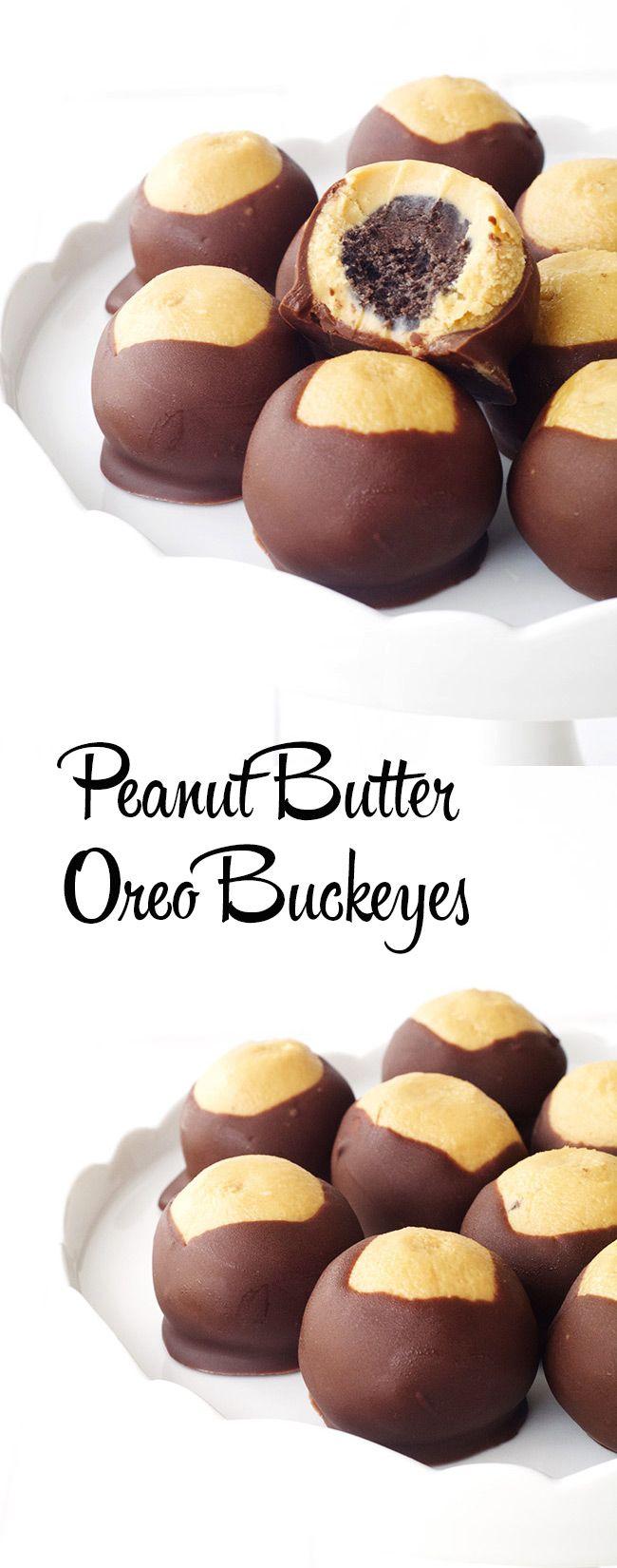Peanut Butter Buckeyes with an Oreo twist! The best buckeyes ever - Sweetest Menu