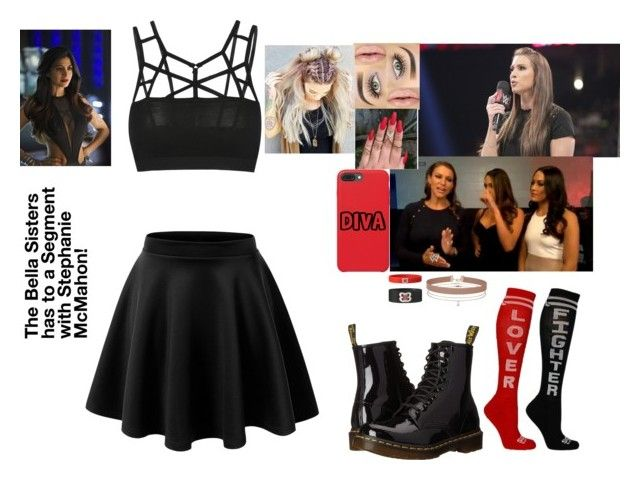 """The Bella Sisters has to a Segment with Stephanie McMahon!"" by safia4life ❤ liked on Polyvore featuring Dr. Martens and Miss Selfridge"